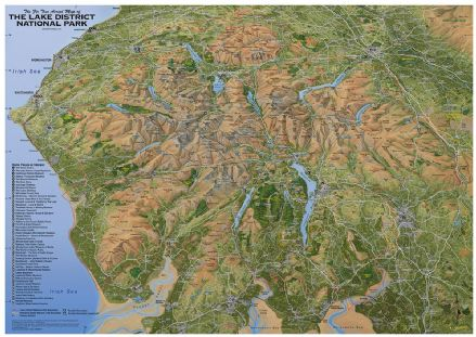 The Lake District National Park - Flat, Laminated